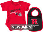 Rutgers Scarlet Knights Colosseum NCAA Newborn Dribble Creeper Bib Set Infant Apparel