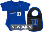 Duke Blue Devils Colosseum NCAA Newborn Dribble Creeper Bib Set Infant Apparel