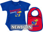 Kansas Jayhawks Colosseum NCAA Newborn Dribble Creeper Bib Set Infant Apparel
