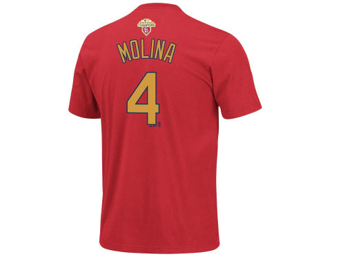St. Louis Cardinals Yadier Molina Majestic MLB Player T-Shirt