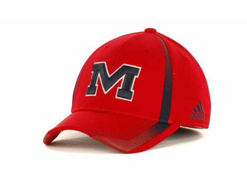 Mississippi Rebels NCAA Adidas Sideline Flex Cap Hats