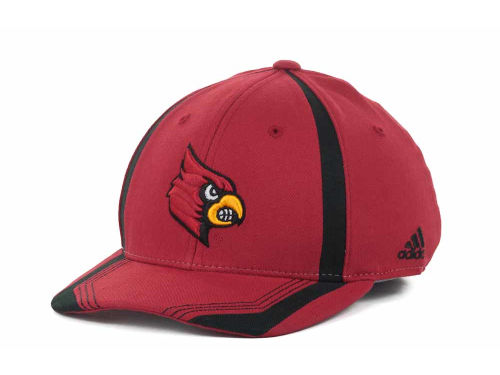 Louisville Cardinals NCAA Adidas Youth Sideline Flex Cap Hats
