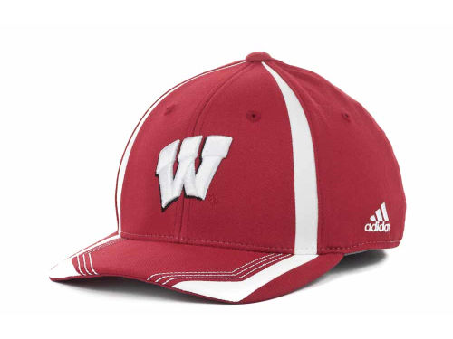 Wisconsin Badgers NCAA Adidas Youth Sideline Flex Cap Hats