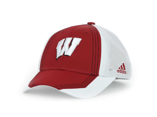Wisconsin Badgers Adidas Youth Flex Cap Hats