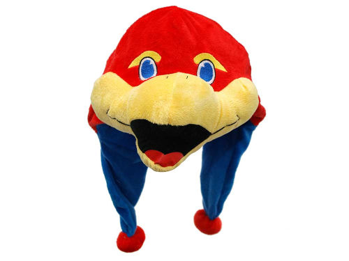 Kansas Jayhawks Plush Mascot Dangle Hat