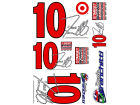 Dario Franchitti Wincraft Racing Team/Player Decal Sheet Auto Accessories