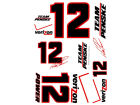 Will Power Wincraft Racing Team/Player Decal Sheet Auto Accessories