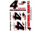J.R. Hildebrand J.R. Hildebrand Wincraft Racing Team/Player Decal Sheet Auto Accessories