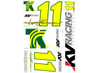Tony Kanaan Tony Kanaan Wincraft Racing Team/Player Decal Sheet Auto Accessories