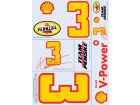 Helio Castroneves Wincraft Racing Team/Player Decal Sheet Auto Accessories