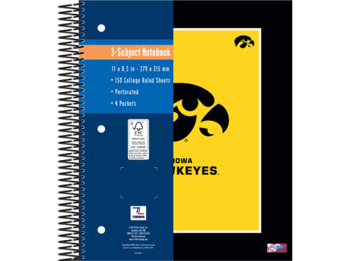 Iowa Hawkeyes 3 Subject Notebook