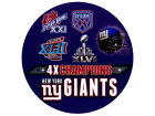 New York Giants Rico Industries Super Bowl XLVI Champs Round Decal Auto Accessories