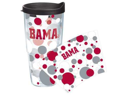Alabama Crimson Tide Tervis Tumbler NCAA 24oz. Polka Dot Tumbler With Lid