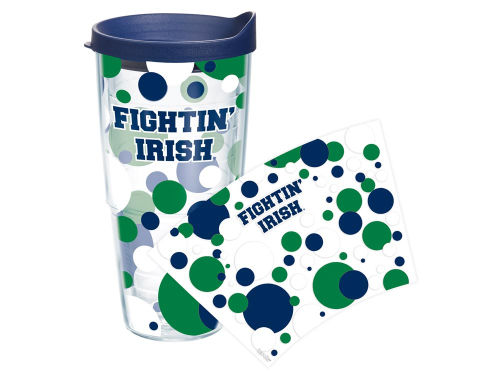 Notre Dame Fighting Irish Tervis Tumbler 24oz. Polka Dot Tumbler With Lid