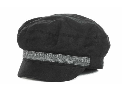 LIDS Private Label PL Linen Newsboy With Patterned Band Hats