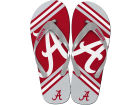 Alabama Crimson Tide Forever Collectibles Big Logo Flip Flop NCAA Apparel & Accessories