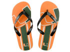 Miami Hurricanes Forever Collectibles Big Logo Flip Flop NCAA Apparel & Accessories