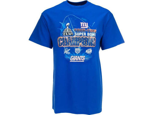 New York Giants VF Licensed Sports Group NFL 4 Time Champ T-Shirt