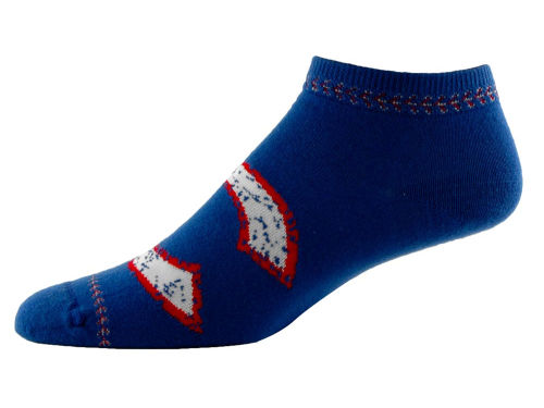 Chicago Cubs For Bare Feet Distressed Stitch Sock