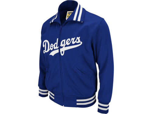 Los Angeles Dodgers Mitchell and Ness MLB Men's Authentic Full Zip BP Jacket