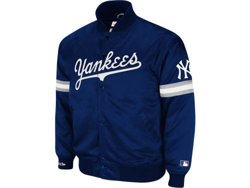 New York Yankees Mitchell and Ness MLB Backup Satin Jacket