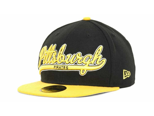 Pittsburgh Pirates New Era MLB Scripter 59FIFTY Hats
