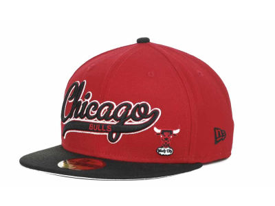Chicago Bulls NBA Hardwood Classics Scripter 59FIFTY Hats