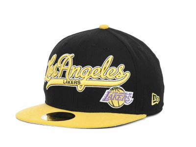 Los Angeles Lakers NBA Hardwood Classics Scripter 59FIFTY Hats