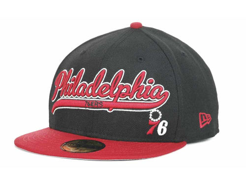 Philadelphia 76ers New Era NBA Hardwood Classics Scripter 59FIFTY Hats