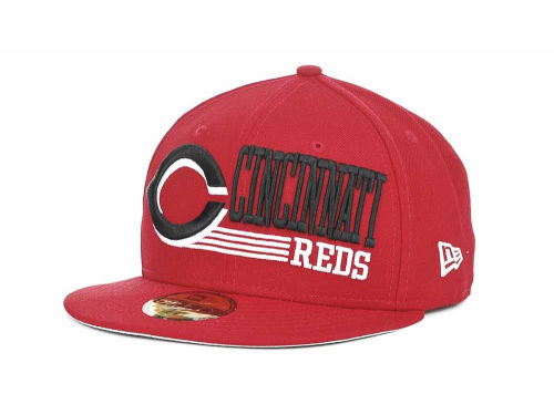 Cincinnati Reds New Era MLB Present Time 59FIFTY Hats