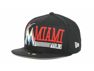 Miami Marlins MLB Present Time 59FIFTY Hats