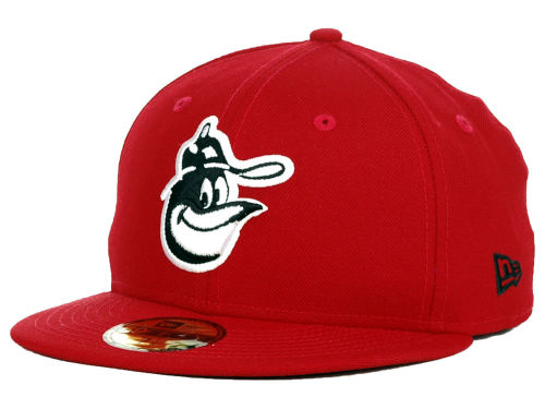 Baltimore Orioles New Era MLB Red-BW 59FIFTY Cap Hats