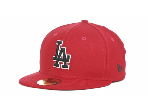 Los Angeles Dodgers New Era MLB Red-BW 59FIFTY Hats