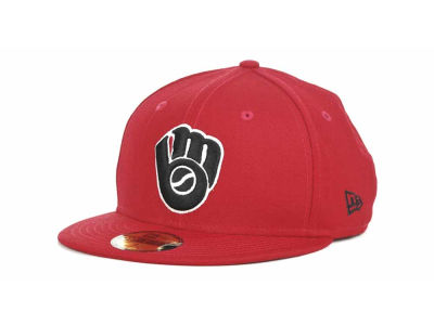 Milwaukee Brewers MLB Red-BW 59FIFTY Hats