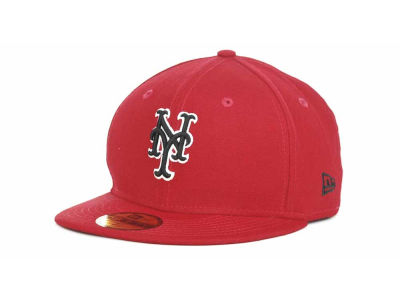 New York Mets MLB Red-BW 59FIFTY Hats