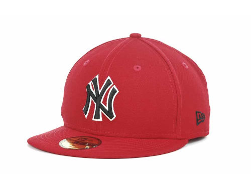 New York Yankees New Era MLB Red-BW 59FIFTY Cap Hats