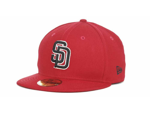 San Diego Padres New Era MLB Red-BW 59FIFTY Hats