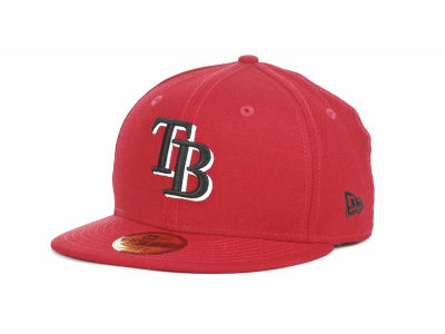Tampa Bay Rays MLB Red-BW 59FIFTY Cap Hats