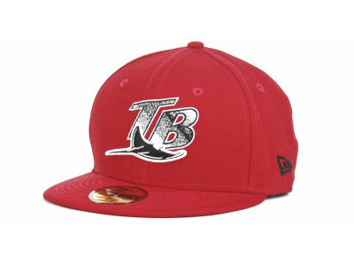 Tampa Bay Rays MLB Red-BW 59FIFTY Hats