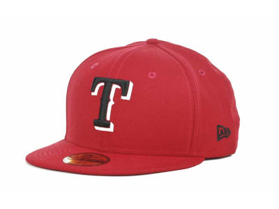 Texas Rangers MLB Red-BW 59FIFTY Hats