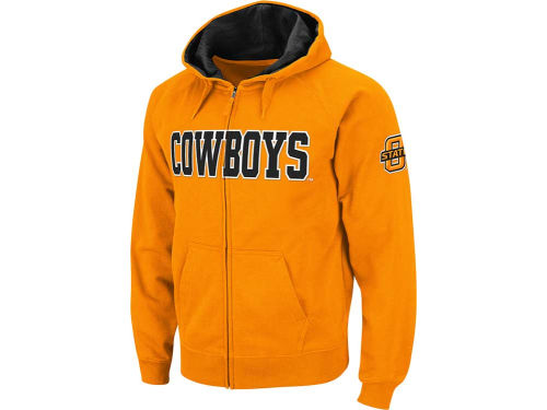 Oklahoma State Cowboys Colosseum NCAA Youth Block Full Zip Hoodie