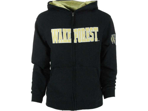 Wake Forest Demon Deacons Colosseum NCAA Youth Block Full Zip Hoodie