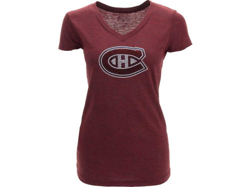 Montreal Canadiens NHL Womens Sequin T-Shirt