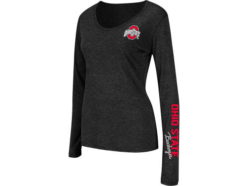Ohio State Buckeyes Colosseum NCAA Womens Athena Long Sleeve Scoop Neck T-Shirt