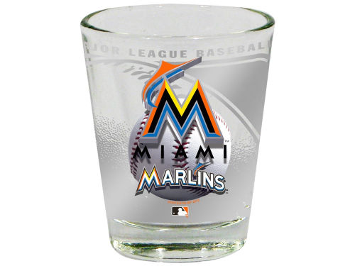 Miami Marlins 3D Wrap Collector Glass
