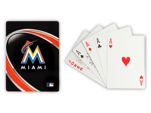 Miami Marlins Hunter Manufacturing Playing Cards