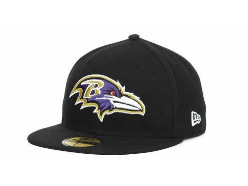 Baltimore Ravens New Era NFL Official On Field 59FIFTY Hats
