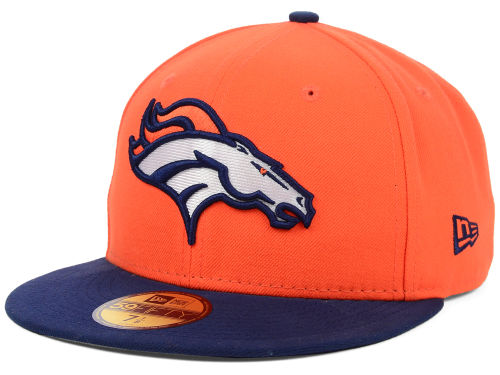 Denver Broncos New Era NFL Official On Field 59FIFTY Cap Hats