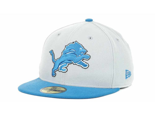 Detroit Lions New Era NFL Official On Field 59FIFTY Hats
