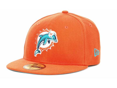 Miami Dolphins NFL 2013 Logo Change Fitted 59FIFTY Cap Hats